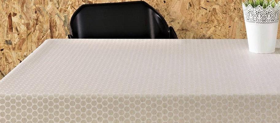 Ekstra bred akrylduk - 160 cm bred og runde duker Ø 160 cm