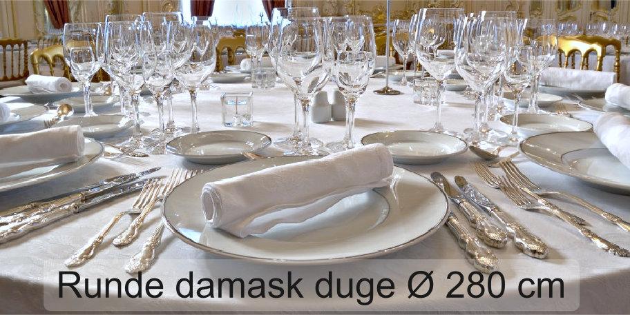 Runde bordduker til Ø 280 cm
