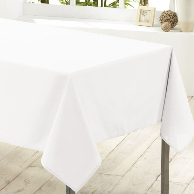 Essentiel, hvid rektangulær dug, 140 x 200 cm