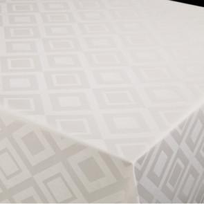 Square Classic hvid, damask præget voksdug