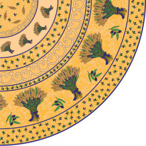 Provence voksdug oliven. Rund Ø 155 cm.
