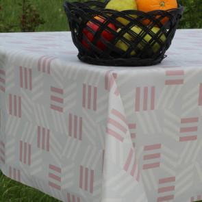 Bench Beige-Dusty Red, akryldug med flot grafisk mønster