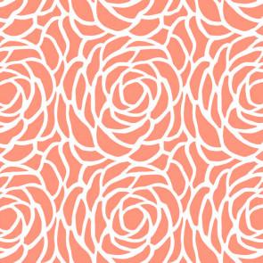 Billy voksdug, Bloom Canteloupe, med stort blomster-mønster