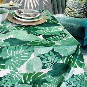 Grønne blade - Voksdug i grønne nuancer, 160 cm bred