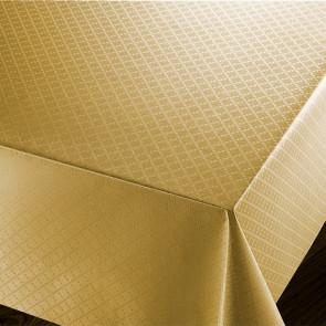 Checkers Gold - voksdug med præget ternet mønster