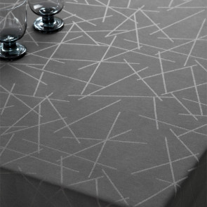 Compliments Damaskdug Sticks, grå - 160 x 320 cm