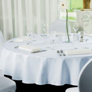 Gastro Ø 180 cm, rund dug 100 % polyester hvid