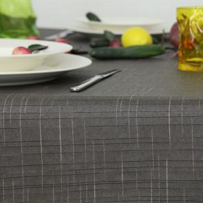 Damero Liso akryldug i grå, 140 cm bred