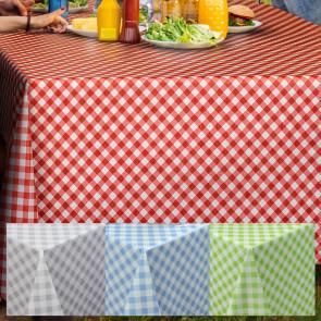 Voksdug med diagonal tern og tekstil look, 140 cm bred