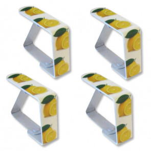 Dugklemmer metal, citroner - Sæt med 4 stk.