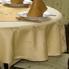 Eleganz Champagne Ø 160 cm, rund damask dug