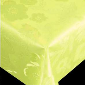 Damask Voksdug - Diamond grøn, 140 cm bred