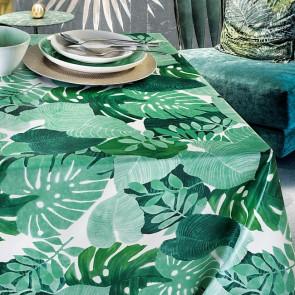 Grønne blade - Voksdug i grønne nuancer