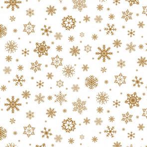 Gennemsigtig julevoksdug - Gyldensne på Klar Plast