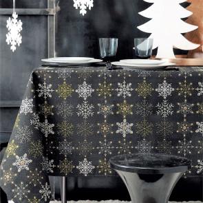 Juledug Flake sort, akryldug i bomuld med lyrex, 2 x akryl og teflon
