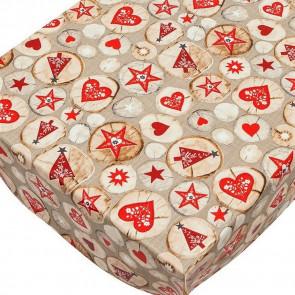 Christmas Rustikal - Jule voksdug rustik jul