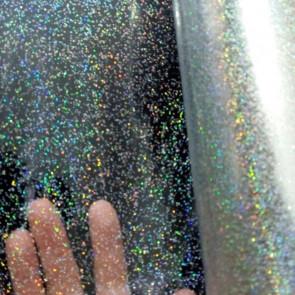 Klar plast med guld glitter gennemsigtig voksdug