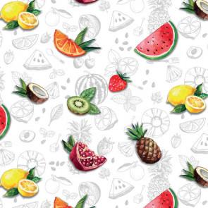 Frisk Frugt , klar plastdug - Gennemsigtig voksdug med tryk