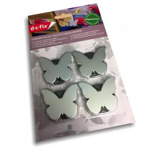 Magnetiske dugvægte Butterfly sølv - sæt med 4 stk