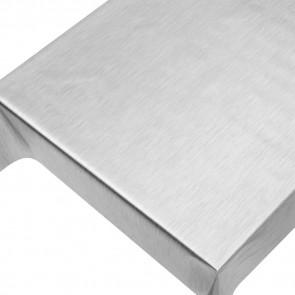 Julevoksdug - Ensfarvet voksdug metalic sølv