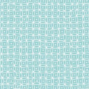 Namika Aqua, voksdug med smukt enkelt grafisk mønster