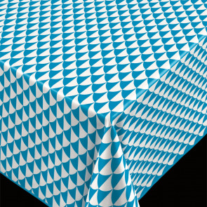 Pirot Teal, voksdug grafisk mønster