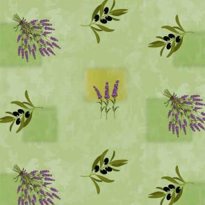 Voksdug med sommerfugle på blå bund