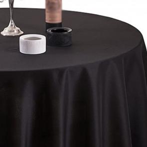 Gastro Ø 240 cm, rund dug 100 % polyester sort