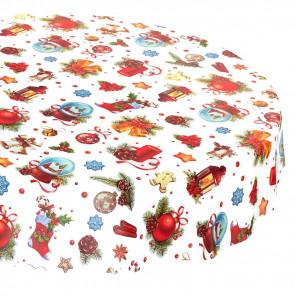 Rund julevoksdug Ø 138 cm - Julelanterner med mere