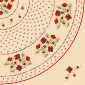 Provence voksdug, Ø 155 cm, søde små blomster.