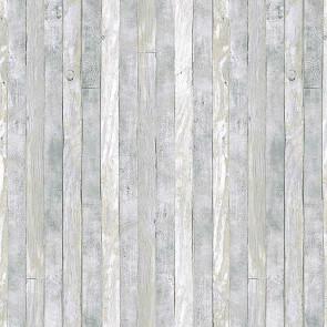 Scrap Wood Light, voksdug med trælook, lys grå