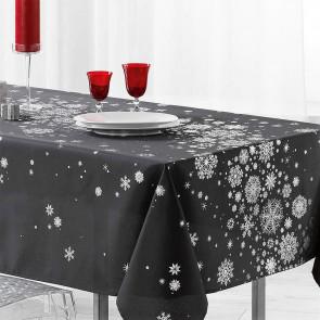 Constellation Snehimmel antracit - Juledug med anti-plet, 150 x 300 cm