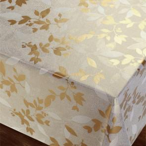 Golden Leaves - Flot damask præget voksdug