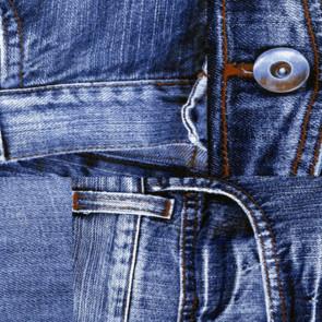 Jeans voksdug med cowboybukser