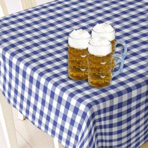 Voksdug til Oktoberfest, voksdug med blå hvid tern, 140 cm bred