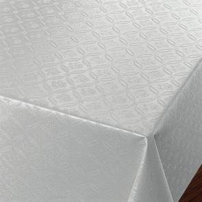 Rose Tapestry Hvid - Voksdug med damask præget mønster