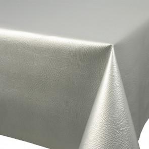 Leather sølv, voksdug skindlook sølv
