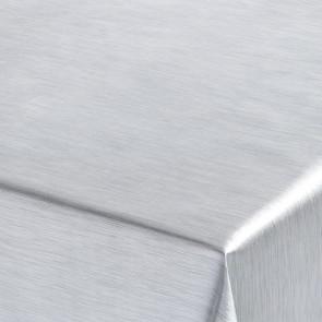 Metallic Sølv - ensfarvet voksdug i metal look